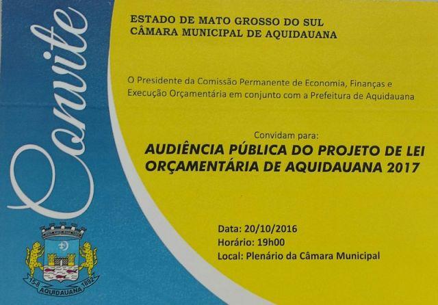 Câmara Municipal e Prefeitura convidam: