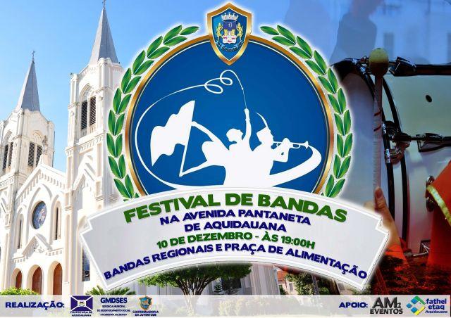 Festival de Bandas será realizado neste sábado em Aquidauana