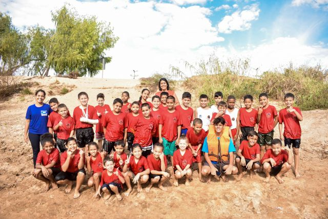 Crianças do Bombeiros do Amanhã participam de instrução no Rio Aquidauana