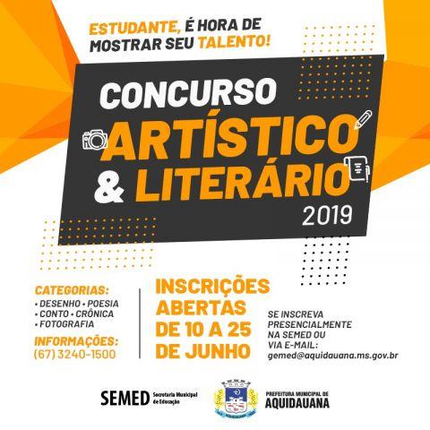 Inscrições abertas para o Concurso Artístico e Literário em comemoração aos 127 de Aquidauana